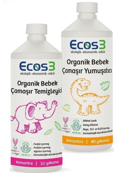 Ecos3 Organik Bebek Çamaşır Yıkama ve Yumuşatıcı Seti