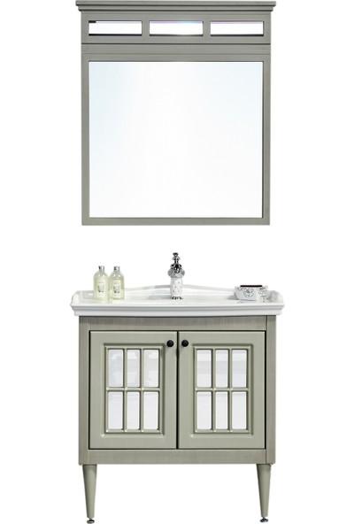 Gold Ban-Yom Vedenda 80 cm Banyo Dolabı + Ayna Ünitesi + Seramik Lavabo
