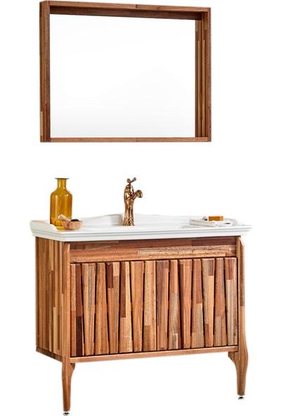 Gold Ban-Yom Foglia 100 cm Banyo Dolabı + Seramik Lavabo
