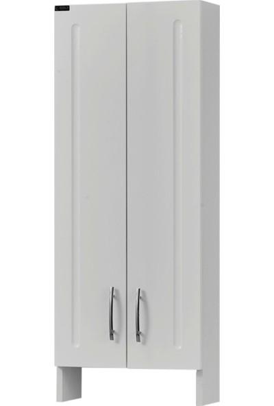 Gold Ban-Yom Comfort 45 cm Klozet Üstü Beyaz Banyo Boy Dolabı
