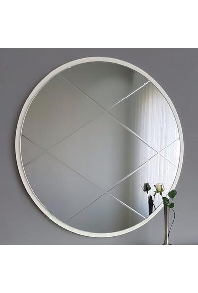 Neostill Füme Ayna Baklava Desen 60 cm Yuvarlak