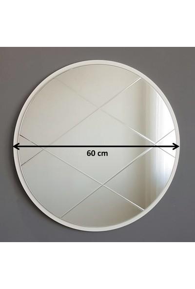 Neostill Dekoratif Ayna Baklava Desen 60 cm Yuvarlak