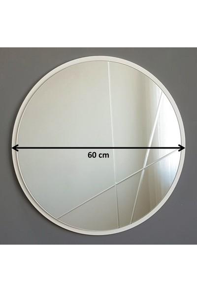 Neostill Dekoratif Ayna Modern Desen 60 cm Yuvarlak
