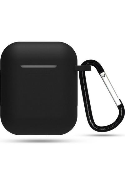 Protec Airpods Silikon Kılıf 360 Koruma - Siyah