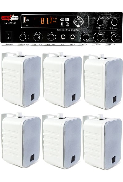 Lastvoice Hoparlör ve Anfi Mağaza Ses Sistemi Soft Paket-4