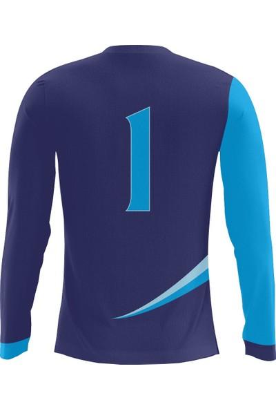 Freysport Eagle Mavi Kaleci Forması Forma , Uzun Alt , Çorap
