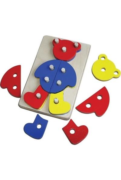 Kalpe Ahşep Eğitici Oyuncak Ayıcık Ahşap Eğitici Oyuncak Sök-Tak Kutu Oyunu