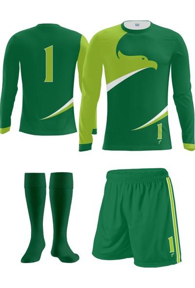 Freysport Eagle Yeşil Kaleci Forması Forma Şort Çorap