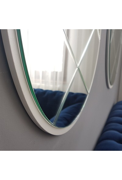Neostill 3 Parça Baklava Desen Ayna 60 cm Yuvarlak