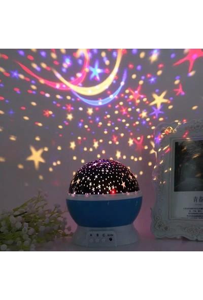 İzla Dönen Star Master Renkli Yıldızlı Gökyüzü Projeksiyon Gece Lambası