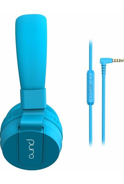 Purosound Kulaküstü Çocuk Kulaklığı - Mavi