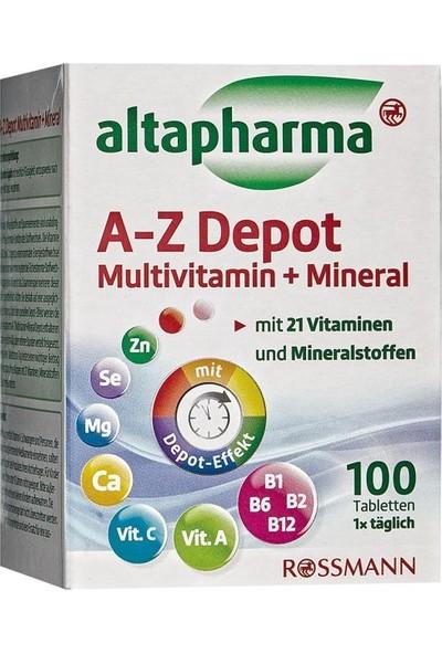 Altapharma A-Z Depot Multivitamin Mineral 100 Tablet