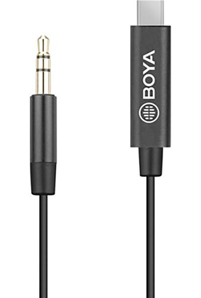 Boya By-K2 Type-C To 3.5mm Mikrofon Kablosu