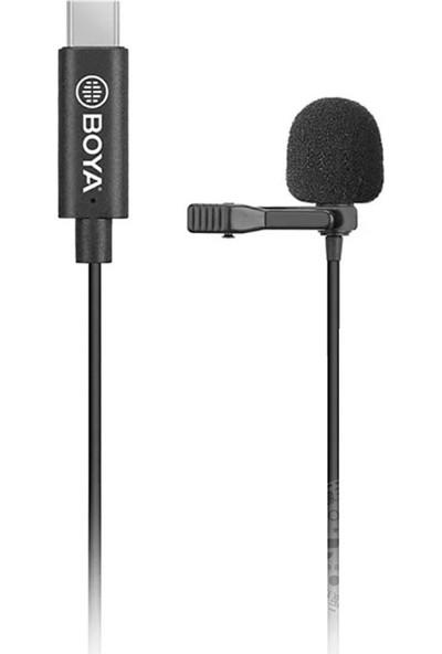 Boya By-M3 Type-C Telefon Yaka Mikrofonu