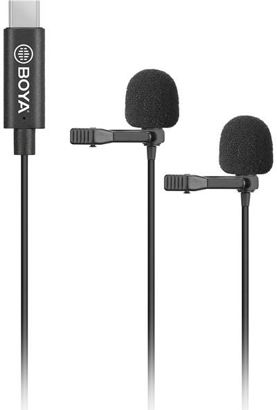 Boya BY-M3D Type-C Telefon Ikili Yaka Mikrofonu