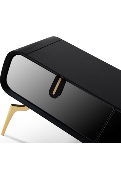 Rima 018 Mırror Gold Ahşap Tv Sehpası