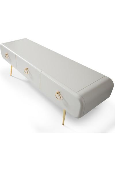 Rima 022 Sımple Gold Ahşap Tv Sehpası