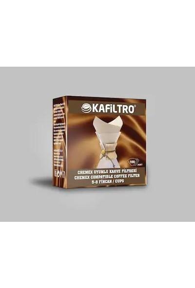 Chemex Kafiltro Chemex Uyumlu Kahve Filtresi Kağıdı 100 Lü Paket 5-8 Fincan