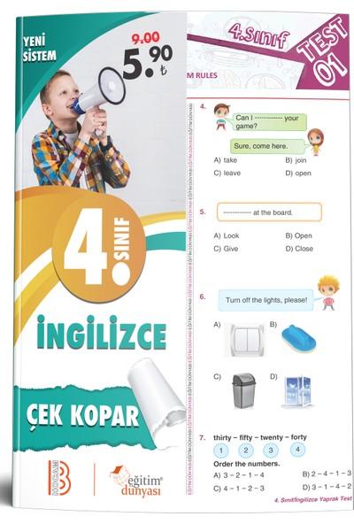 Eğitim Dünyası Yayınları & Benim Hocam Yayınları - 4. Sınıf Ingilizce Çek Kopar Yaprak Test