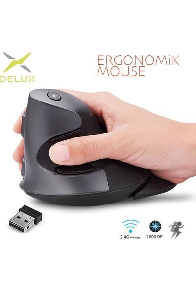 Delux M618GX Dikey 6 Tuşlu Kablosuz Optik Mouse