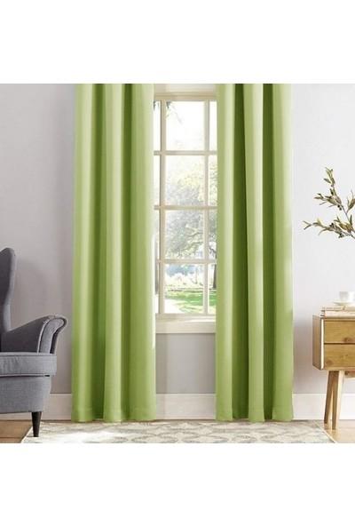 Puffy Home Blackout Karartma Fon Perde 140 x 270 cm Açık Yeşil