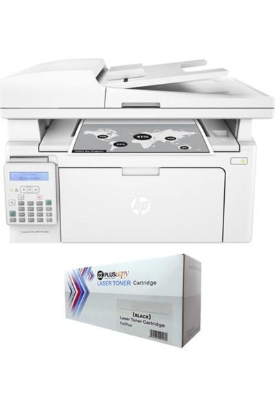 HP Laserjet Pro Mfp M130FN Faks + Ethernet + Tarayıcı + Airprint Çok Fonksiyonlu Lazer Yazıcı G3Q59A Tam Dolu Pluscopy Tonerli
