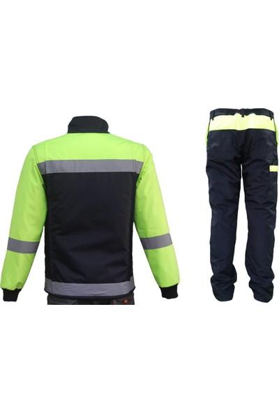 Ysf İçi Elyaflı Reflektörlü Mont Pantolon Takım Sarı S