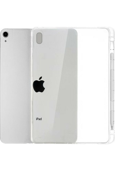 """Coverzone Apple iPad Pro 10.2"""" Kılıf Kalem Yuvalı Silikon TPU Şeffaf"""