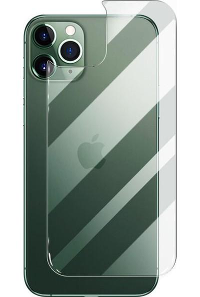 Microcase Apple iPhone 11 Pro Max Arka Kapak Tempered Glass Cam Koruma