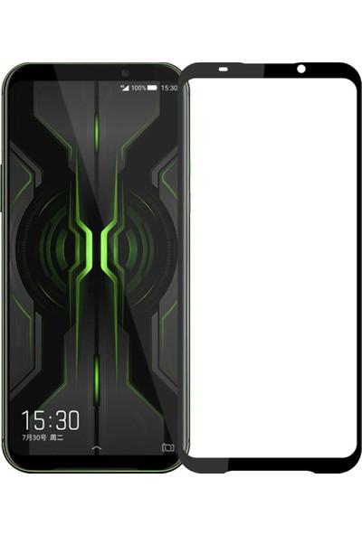 Microcase Xiaomi Black Shark 2 Pro Tam Kaplayan Çerçeveli Tempered Ekran Koruyucu - Siyah