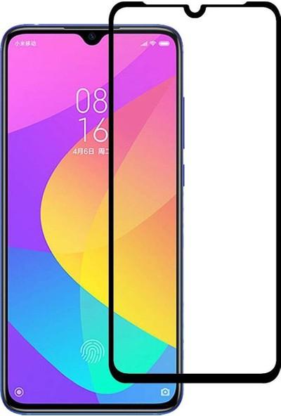 Microcase Xiaomi Mi 9 Lite Tam Kaplayan Çerçeveli Tempered Ekran Koruyucu - Siyah