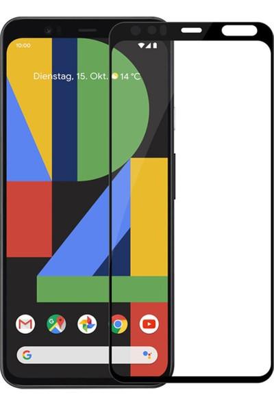 Microcase Google Pixel 4 Tam Kaplayan Çerçeveli Tempered Ekran Koruyucu - Siyah