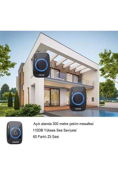 Trline Cacazi 2 Alıcılı Kablosuz Uzaktan Kumandalı LED Kapı Zili