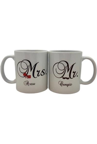 Arctimo Mr. & Mrs. Kişiye Özel Seramik Kupa