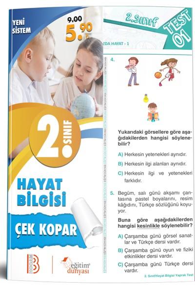 Eğitim Dünyası & Benim Hocam Yayınları - 2. Sınıf Hayat Bilgisi Çek Kopar Yaprak Test