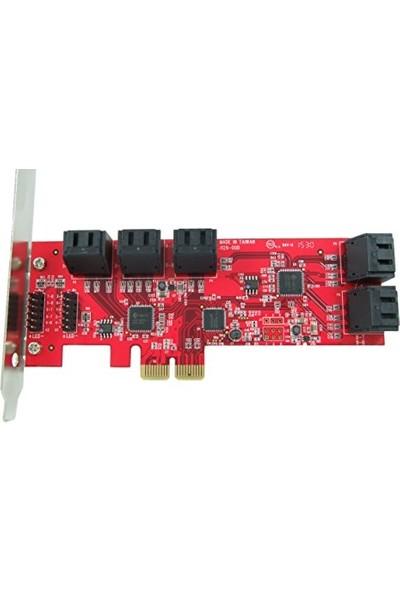 Kuroutoshikou Pci Express Sata HDD Harddisk Çoklayıcı 10 Port