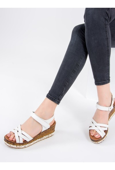 Fox Shoes Beyaz Kadın Sandalet F288071409