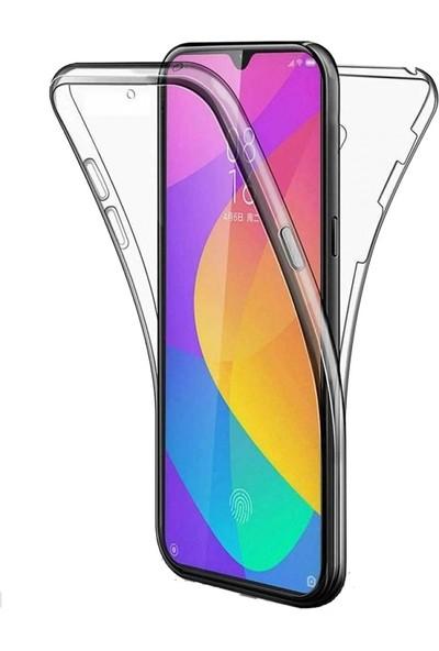 Teleplus Samsung Galaxy A50 Ön Arka 360 Silikon Kılıf Şeffaf