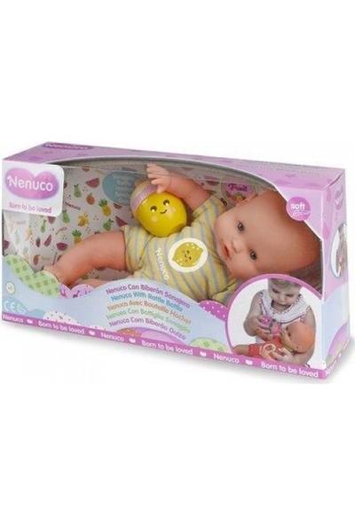 Nenuco Çıngıraklı Biberonlu Bebek - Limon