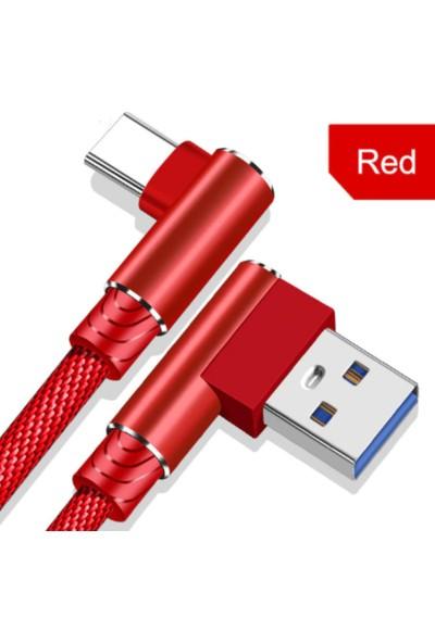 Judas Type-C Hızlı Şarj ve Data Kablosu 1 mt Kırmızı