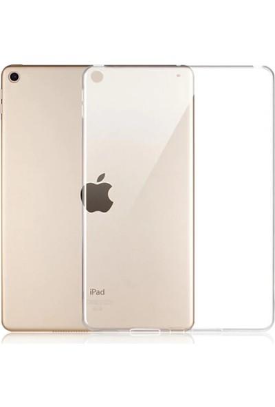 Tekno Grup Apple iPad 10.2'' Kılıf Darbe Emici Süper Silikon Kılıf Şeffaf + Cam Ekran Koruyucu