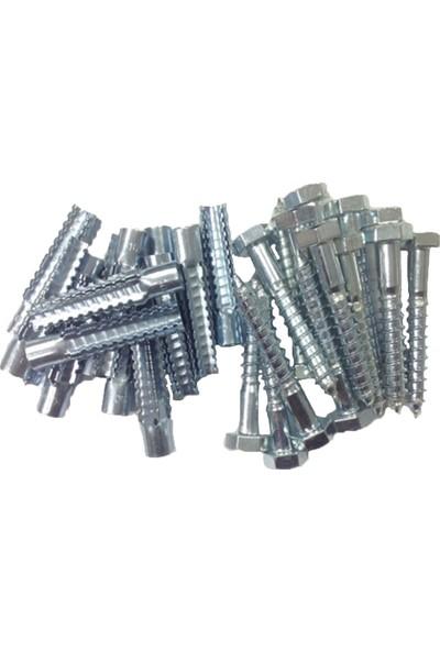 Alfa Dübelci Gaz Beton Metal 10 mm ve 10 x 70 mm Trifon Vida Çelik Dübel 25 Adet