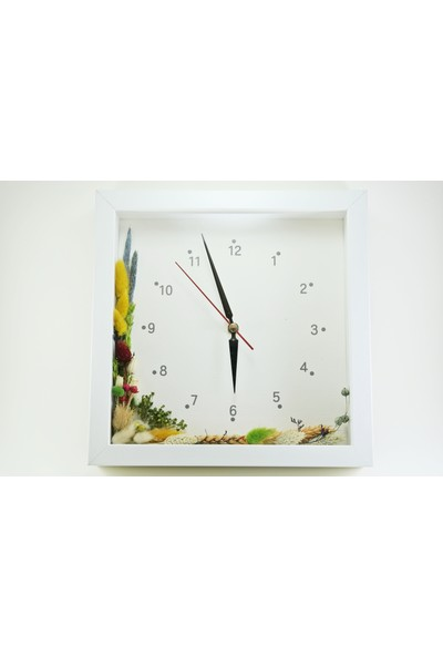 Timo Tasarım Çiçekli Saat