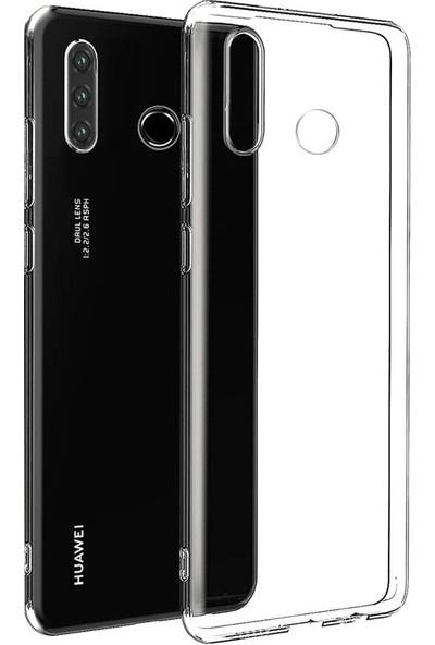 Case Street Huawei Honor 20 Lite Kılıf Süper Silikon Arka Koruma + Nano Glass Şeffaf