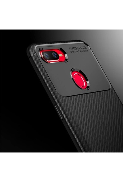 Case Street OPPO A5s Kılıf Negro Karbon Dizayn Silikon Siyah