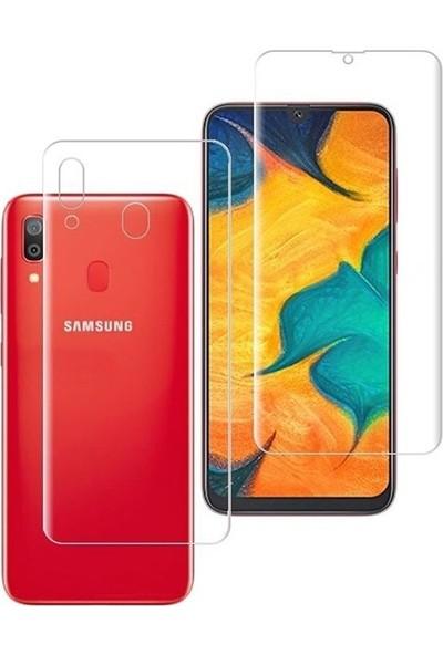 Case Street Samsung Galaxy M10s Full Body Ön Arka Ekran Koruyucu Şeffaf