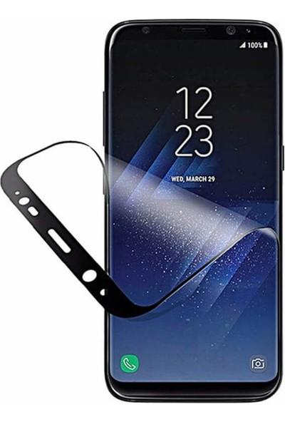 Case Street Samsung Galaxy M10s Full Kapatan Fiber Nano Ekran Koruma Siyah