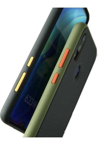 Case Street Samsung Galaxy M10s Kılıf Renkli Bumper Arka Kapak Lacivert