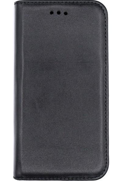 Case Street Samsung Galaxy Note 10 Plus Kılıfki Deri Cüzdan Gizli Mıktanıslı Siyah