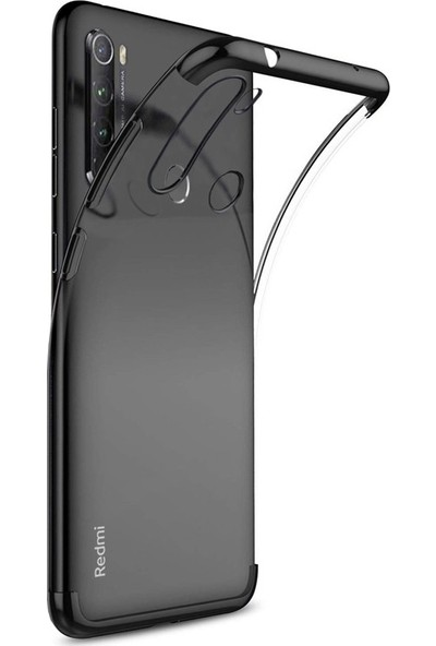 Case Street Xiaomi Redmi Note 8T Kılıf Colored Silicone Yumuşak Siyah